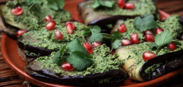 Berenjenas con salsa de Nuez -receta Georgiana-